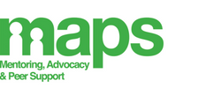 MAPS logo (Mentoring, advocacy & Peer support)
