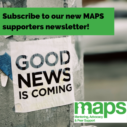 MAPS supporters newsletter sign up image